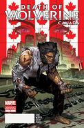 Death of Wolverine Vol 1 2 Canada Variant