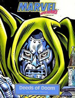 Doctor Doom's Armor, Victor von Doom (Earth-TRN564) from Deeds of Doom cover by Joe Sinnott