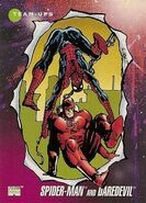 Peter Parker and Matthew Murdock (Earth-616) from Marvel Universe Cards Series III 0001