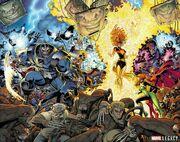 X-Men Gold Vol 2 13 and X-Men Blue Vol 1 13 Textless