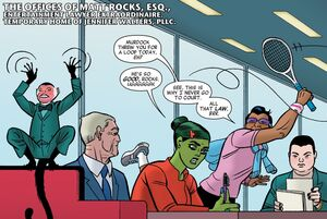 Law Offices of Jennifer Walters, PLLC (Earth-616) from She-Hulk Vol 3 9