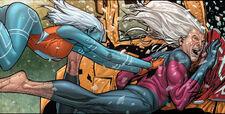 Namorita Prentiss (Earth-616) and Robert Hunter (Earth-616) from Civil War Vol 1 1 0001