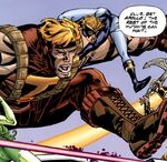 Oliver Queen (Earth-9602) and Dinah Barton (Earth-9602) from JLX Vol 1 1 0001