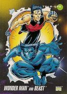 Simon Williams and Henry McCoy (Earth-616) from Marvel Universe Cards Series III 0001