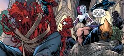 Sinister Sextet (Earth-311) and Warriors of the Great Web (Earth-001) from Amazing Spider-Man Vol 4 1 001