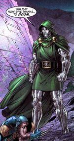 Victor von Doom (Earth-7642) and James Howlett (Earth-7642) from New Avengers Transformers Vol 1 2 001