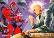 Max Eisenhardt (Earth-616) and Charles Xavier (Earth-616) from Ultra X-Men (Trading Cards) 1995 Set 001