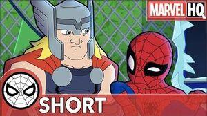 Spidey & Thor Break The Ice! Marvel Super Hero Adventures - Uh Oh, It's Magic! SHORT