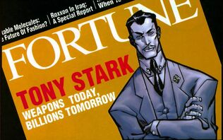 Anthony Stark (Earth-616) on the cover of Fortune from Iron Man Enter the Mandarin Vol 1 1