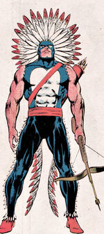 Jason Strongbow (Earth-616) from Official Handbook of the Marvel Universe Vol 1 1 0001