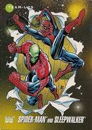 Peter Parker and Sleepwalker (Earth-616) from Marvel Universe Cards Series III 0001
