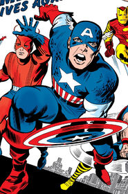 Steve Rogers (Earth-616) Captain America joins the Avengers in Avengers Vol 1 4