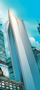 Stark Tower (Columbus Circle, Original) from New Avengers Vol 1 3 001