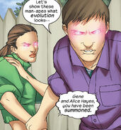 Alice Hayes (Earth-616) and Gene Hayes (Earth-616) from Runaways Vol 1 12 002
