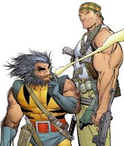 James Howlett (Earth-7642) and Michael Cray (Earth-7642) from Deathblow Wolverine Vol 1 2 001