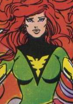 Jean Grey (Earth-7642) from Uncanny X-Men and The New Teen Titans Vol 1 1 001