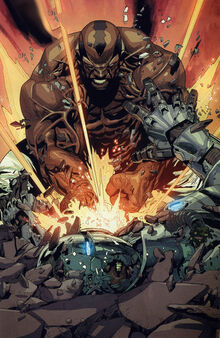 Leonard Williams (Earth-1610) and James Rhodes (Earth-1610) from Ultimate Avengers vs. New Ultimates Vol 1 2 0001