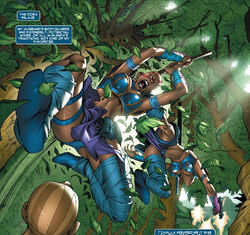 Dora Milaje (Earth-616) from X-Men Worlds Apart Vol 1 2 001