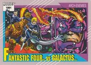 Fantastic Four vs. Galactus (Earth-616) from Marvel Universe Cards Series II 0001