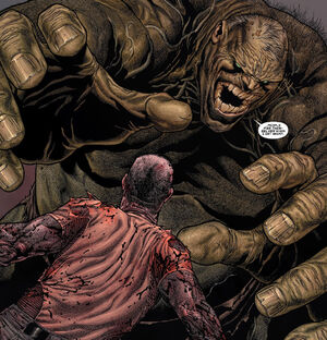 James Howlett (Earth-807128) and Bruce Banner (Earth-807128) from Wolverine Old Man Logan Giant-Size Vol 1 1 003