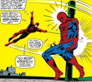 Matthew Murdock (Earth-616) versus Spider-Man from Daredevil Vol 1 16