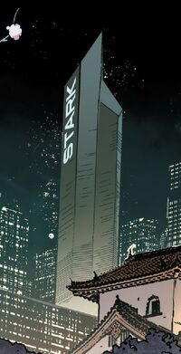 Stark Tower (Osaka) from Invincible Iron Man Vol 3 1 001