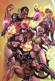 Avengers (1,000,000 BC) (Earth-616) from Marvel Legacy Vol 1 1 Midtown Comics Exclusive Double Gatefold Variant