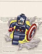 Captain America Vol 7 12 LEGO Variant Textless