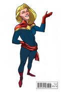 Captain Marvel and the Carol Corps Vol 1 1 Ant-Sized Variant (Back Cover)