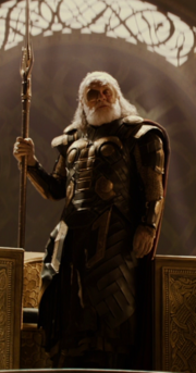 Loki Laufeyson (Earth-199999) disguised as Odin Borson (Earth-199999) from Thor The Dark World 001