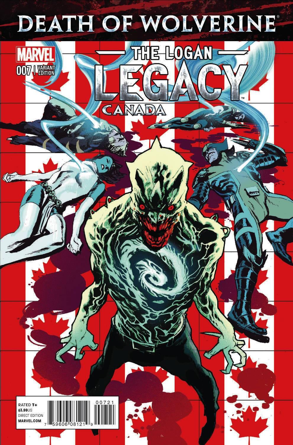 Death Of Wolverine The Logan Legacy Vol 1 7 Canada Variant
