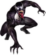 Edward Brock Jr. (Earth-96283) and Venom (Symbiote) (Earth-96283) from Spider-Man 3 (film) promotional art 001