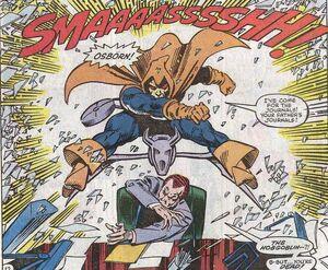 Hobgoblin valt Harry Osborn aan (Amazing Spider-Man -260)