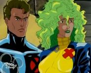 Lorna Dane (Earth-92131) and Robert Drake (Earth-92131) from X-Men The Animated Series Season 3 15 001