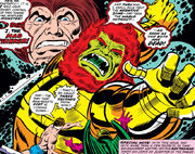 Mad Thinker (Julius) (Earth-616), Monster Android (Earth-616), Reed Richards (Earth-616), and Annihilus (Earth-616) from Fantastic Four Vol 1 181