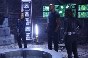 Melinda May (Earth-199999), Alphonso Mackenzie (Earth-199999) and Daisy Johnson (Earth-199999) from Marvel's Agents of S.H.I.E.L.D. Season 3 10 001