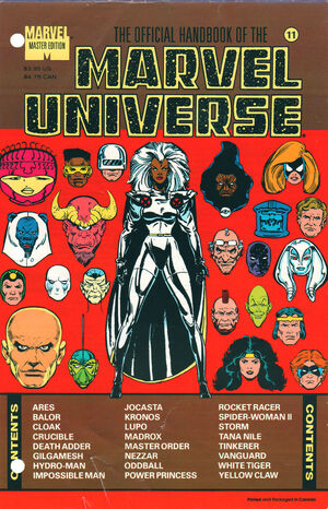 Official Handbook of the Marvel Universe Master Edition Vol 1 11