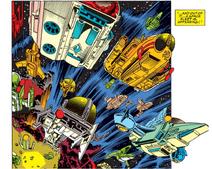 Shi'ar Imperial Fleet (Earth-616) from Avengers Vol 1 345