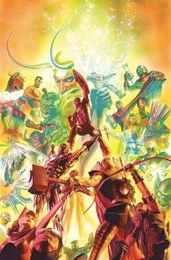 Avengers Vol 5 25 Marvel Comics 75th Anniversary Variant Textless
