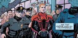 New York Police Department (Earth-18139) and Eugene Thompson (Earth-18139) from What If? Spider-Man Vol 2 1 001