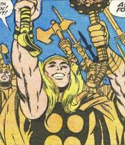 Thor Odinson (Earth-616) in golden armor from Thor Annual Vol 1 2