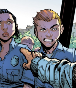 Brentwood Police Department (Earth-616) from Champions Vol 2 6 001
