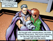 Rogue (Anna Marie), Erik Lehnsherr and Magnus Lehnsherr (Earth-27) from Exiles Vol 1 1 0001