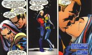 Melissa Gold (Earth-98120) and Genis-Vell (Earth-98120) from Avengers Forever Vol 1 1 0002