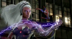 Ororo Munroe (Earth-TRN219) and Peter Parker (Earth-TRN219) from Marvel Avengers Battle for Earth 0001