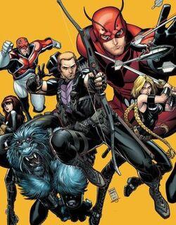 Secret Avengers (Black Ops Unit) (Earth-616) from Secret Avengers Vol 1 22 Cover