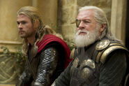 Thor Odinson (Earth-199999) and Odin Borson (Earth-199999) from Thor The Dark World 001