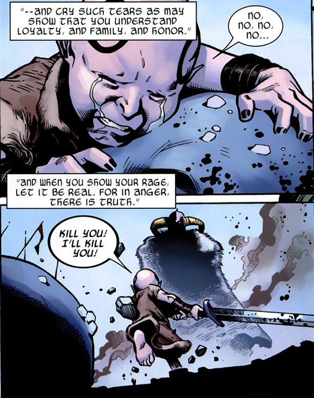 Loki Laufeyson (Earth-616), Odin Borson (Earth-616), and Laufey (Earth-616) from Thor Vol 3 12 0002