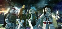 Warriors Three (Earth-13122) and Sif (Earth-13122) from LEGO Marvel Super Heroes 001