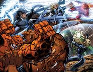 Fantastic Four (Earth-616), Fantastic Four (Earth-81551), and Victor von Doom (Earth-81551) from from Fantastic Four Vol 1 553 001